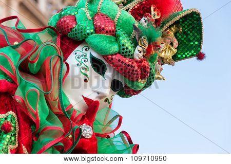 Italian costume at Venice carnival