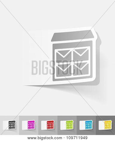 realistic design element. letter-box