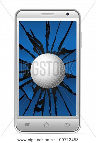 Cracked Smart Phone Golf