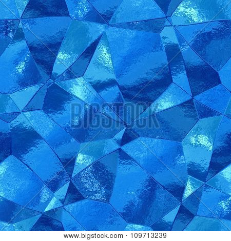 Decorative stones of different shapes - blue pattern
