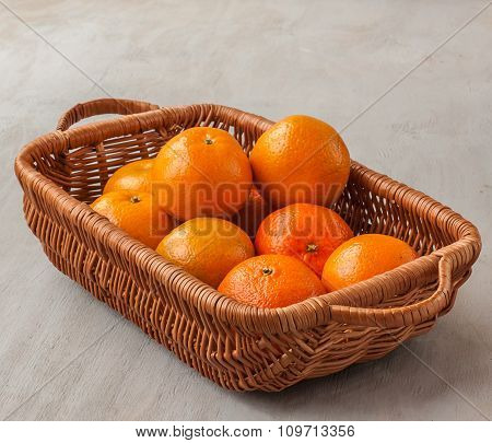 Basket With Mandarins