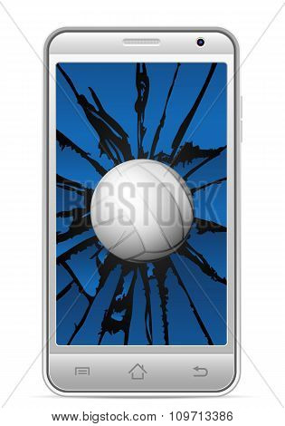 Cracked Smart Phone Volleyball