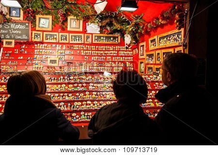 Traditional Christmas Market In The Historic Strasbourg France