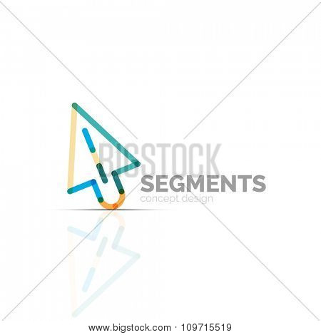 Arrow icon vector logo. Company branding element. Illustration