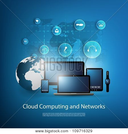 Cloud Computing And Networks Design Concept