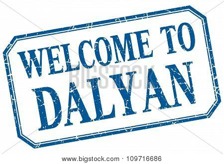 Dalyan - Welcome Blue Vintage Isolated Label