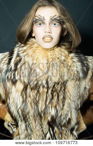 Girl In Fur Coat
