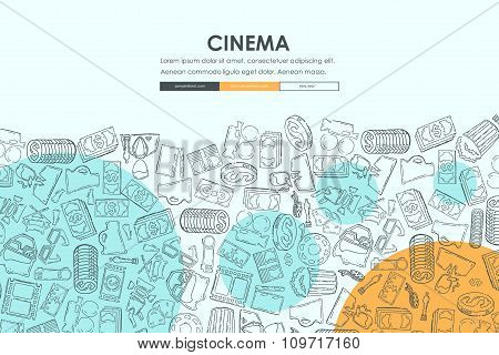 cinema Doodle Website Template Design