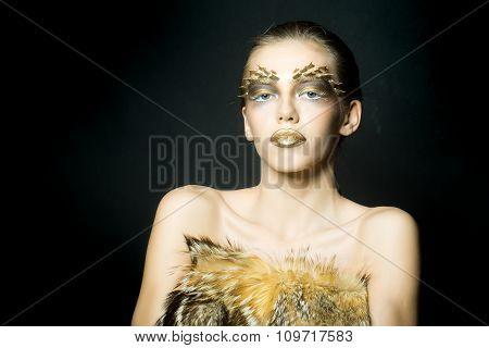 Sexual Golden Woman