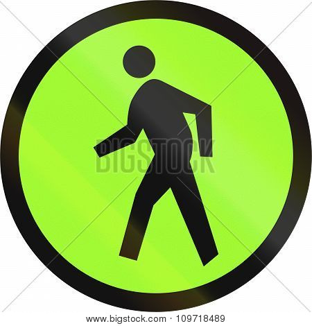 Road Sign In The Philippines - Pedestrian Or Zebra Crossing