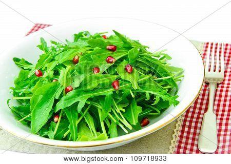 Salad of Arugula and Pomegranate.