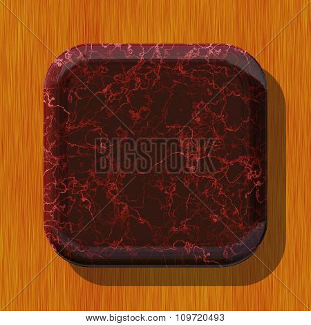 Abstract decorative symbol, red button - practical shape