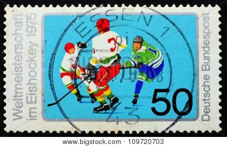Postage Stamp Germany 1975 Ice Hockey