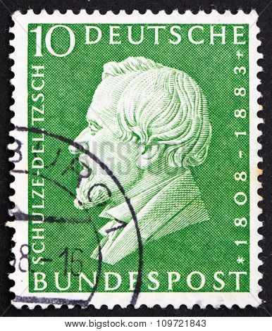 Postage Stamp Germany 1958 Hermann Schulze-delitzsch
