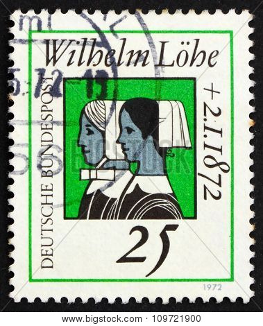 Postage Stamp Germany 1972 Deaconesses