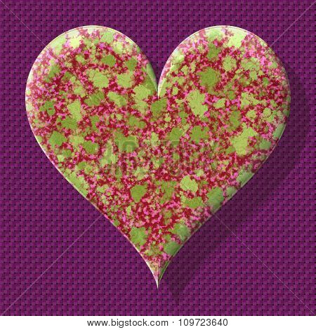 Abstract decorative symbol, multicolored heart - practical shape