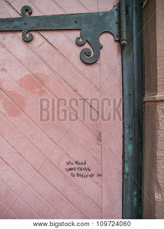 Pink Door Abstract