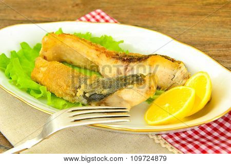 Healthy and Diet Food: Fried Fish Carp.