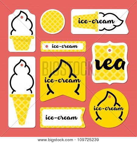 Collection Of Summer Ice-cream Cards