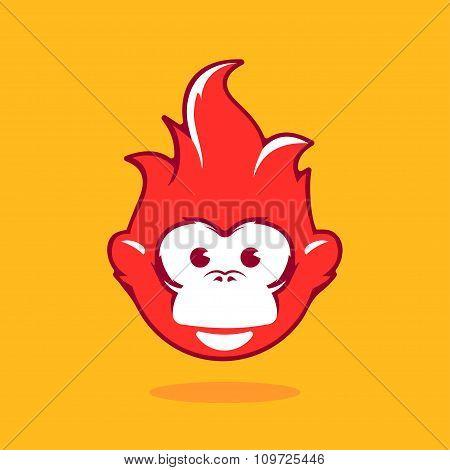 Illustration Symbol New Year 2016, Monkey