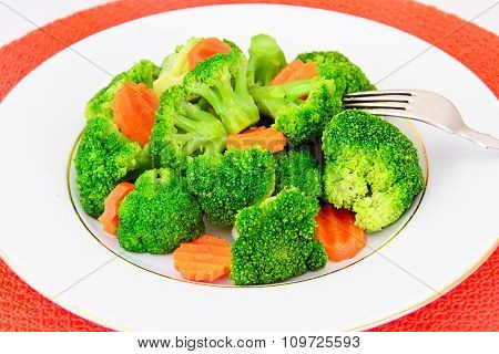 Broccoli and Carrots. Diet Fitness Nutrition