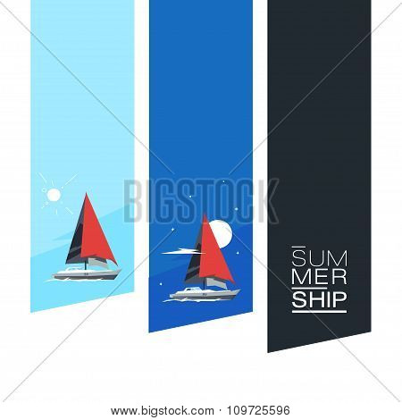 Stickers Boat, Landscape