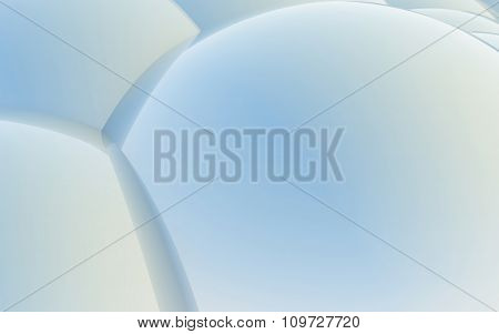 3D Blue Abstract Spheres Background