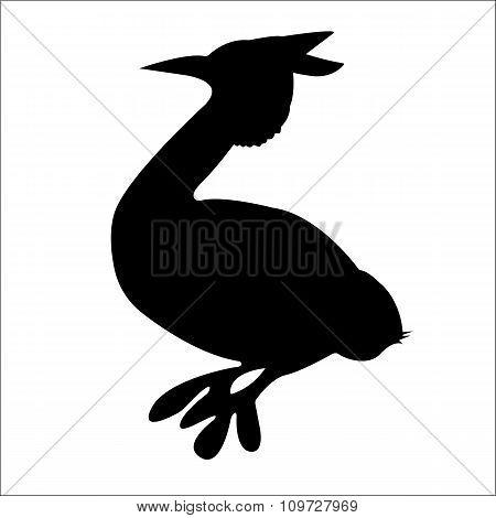 Bird Silhouette. Vector EPS 10.