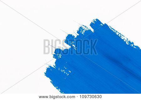 Stroke Blue Paint Brush