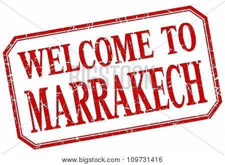 Marrakech - Welcome Red Vintage Isolated Label