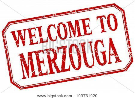 Merzouga - Welcome Red Vintage Isolated Label
