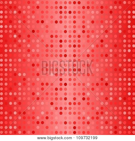 Dots on Red Background. Halftone Texture.