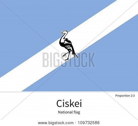 National flag of Ciskei with correct proportions, element, colors