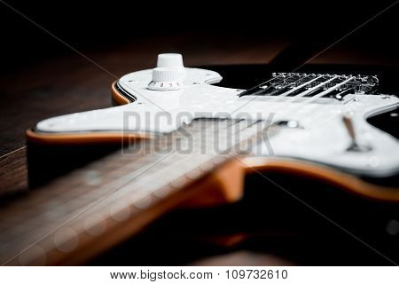 An Electric Guitar Details, Close Up