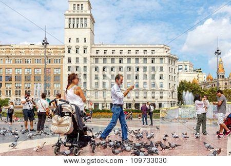 Barcelona. Placa Catalunya.
