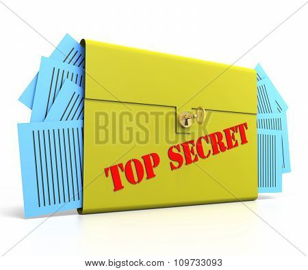 Top Secret Brief Case With Gold Key