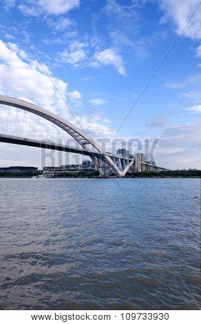 Lupu Bridge And Huangpu River