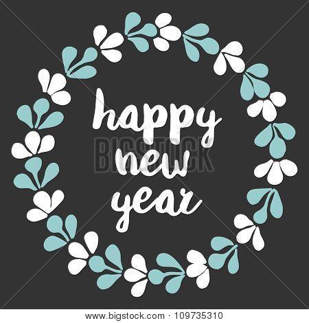 Happy New Year pastel vector card