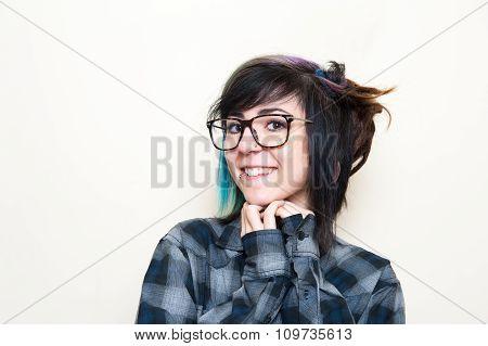 Pretty Young Alternative Teen Woman Portrait