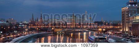 Kremlin Night Panorama High Eyepoint
