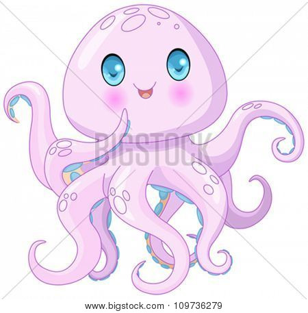 Illustration of very cute octopus