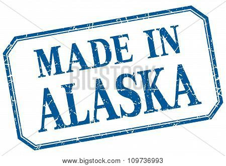 Alaska - Made In Blue Vintage Isolated Label