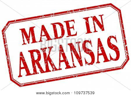 Arkansas - Made In Red Vintage Isolated Label