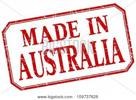 Australia - Made In Red Vintage Isolated Label