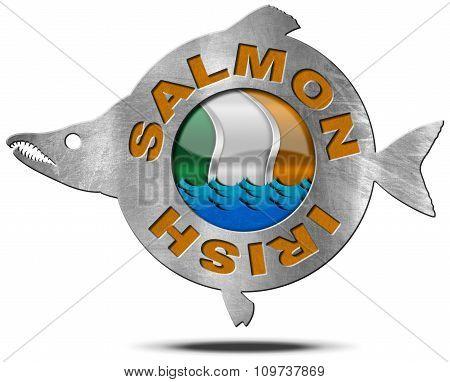 Irish Salmon - Metal Icon