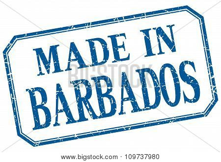 Barbados - Made In Blue Vintage Isolated Label