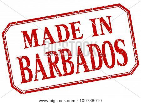 Barbados - Made In Red Vintage Isolated Label