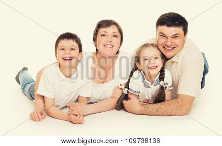 happy family group people portrait