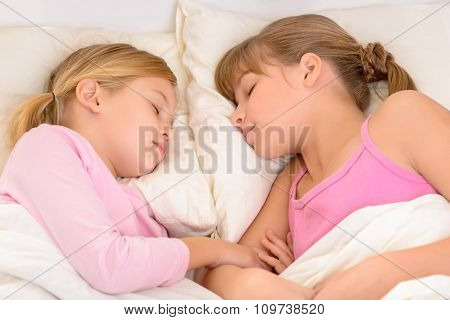 Nice girls sleeping