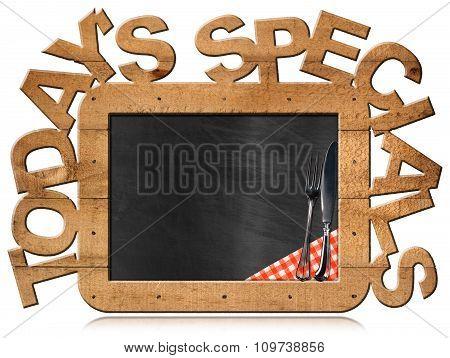 Today's Specials - Blackboard Food Menu
